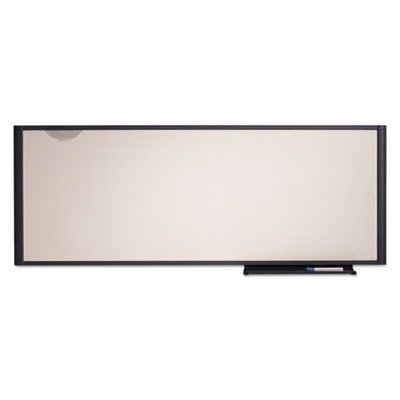 Quartet Total Erase Workstation Markerboard - 48quot; Width x 18quot; Height - Surface - Graphite Frame - Film - 1 Each (Total Markerboard Erase)