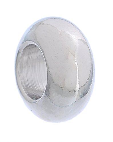 Godagoda Couleur Argent Mat Lisse Perles Intercalaires pour Bracelet Breloque Lot de 30pcs