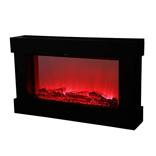 38 Electrical Fireplace Stove with Heater,Wall Mounted LED Flame,Remote Control
