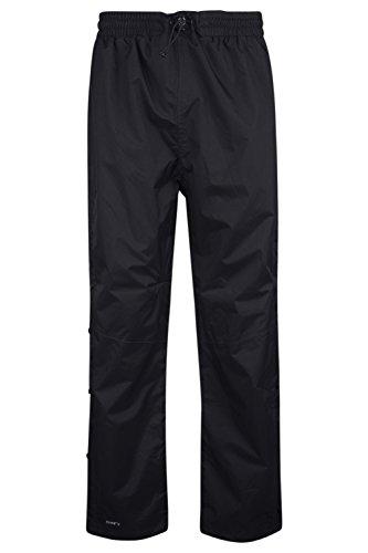 Mountain Warehouse Downpour Mens Trousers -Waterproof Spring Pants Black Medium
