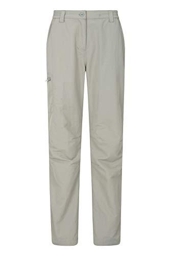 Mountain Warehouse Navigator Lightweight Womens Hiking Pants Light Khaki 2 (Light Weight Ski Pants Women)