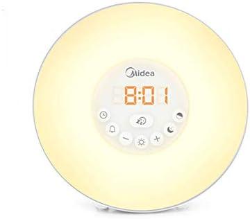 KEHUITONG 目覚まし時計、スマート電子目覚まし時計、サイレント学生/寝室ベッドサイドの目覚まし時計、ナイトライトアラーム、2つの電源モード 最新スタイル (Color : White)