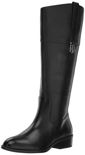 Lauren Ralph Lauren Women's Merrie-W Fashion Boot, Black, 7.5 B US