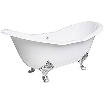 """MAYKKE 73"""" Dahlia Cast Iron Bath Tub Clawfoot Bathtub"""