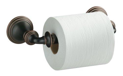 KOHLER K-10554-BRZ Devonshire Double Post Toilet Tissue Holder, Oil-Rubbed - Devonshire Double Post