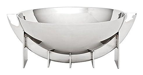 Casa Padrino Designer Edelstahl Schale 30 x H. 12 cm - Luxus Qualität
