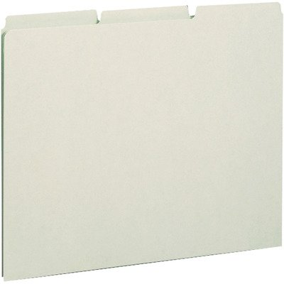 SMD50334 - Smead 50334 Gray/Green Pressboard Guides with Blank Tab