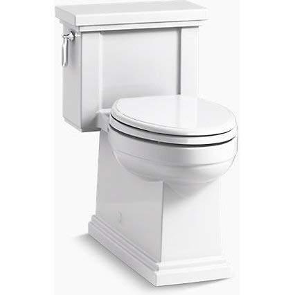- Kohler K-3981-RA-0 TRESHAM Comfort Height one-Piece Compact Elongated 1.28 gpf Toilet with AquaPiston Flush Technology and Right-Hand Trip Lever White