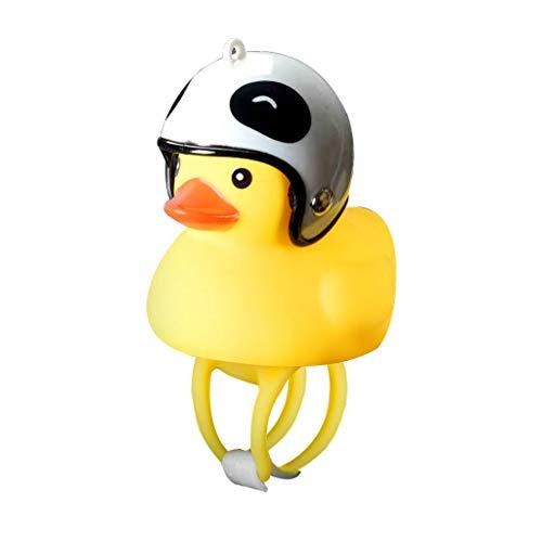 Vansee❤❤Cartoon Duck Head Light Shining Duck Bicycle Bells Handlebar Bicycle Accessories (I)