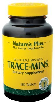 (Natures Plus Trace-Mins - 180 Vegetarian Tablets - Multi-Trace Minerals Supplement with Chromium, Iodine, Magnesium, Manganese, Potassium, Zinc & More - Gluten Free - 180 Servings)