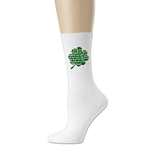 JESUS SAUCEDO Lucky Leaves Fashion Casual Lightweight Cotton Socks Sock Stockings Hose Sport Crew Socks