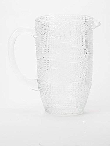 Gisela Graham FISH GLASS TALL JUG
