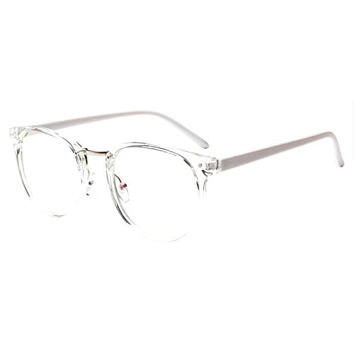 671578aebcf Forepin® Women Glasses Frames Fashion Clear Lens Unisex Men Frame Vintage  Eyeglasses 0 Strength - Transparent with White