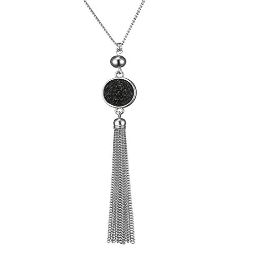 Long-Chain-Tassel-Necklace-Pendant-Resin-Sweater-Chain-Bohemian-Style-for-Women-Change-Color