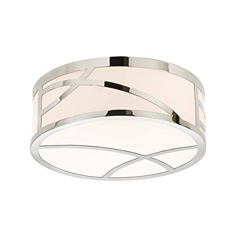 "Sonneman 2537-35 2537.35 Contemporary Modern LED Surface Mount from Haiku Collection in Polished Nickel Finish, 12"", Pool"