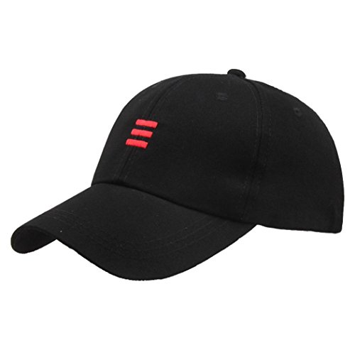 Challyhope Clearance! Men Women Cotton Adjustable Washed Twill Low Profile Hip-Hop Baseball Cap Polo Hat (one-Size (Adjustable), Black)