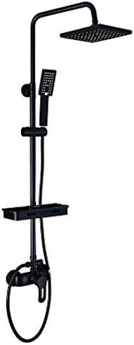 GaLon Vollkupfer-schwarzes Duschset Duschset Haushalt Lift Booster Duschkopf Duschset Lift Booster Dusche Multifunktions-Dusche