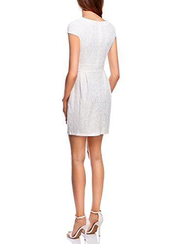 oodji 1200l Encaje Ultra de Mujer Vestido de Punto Blanco rrxz8
