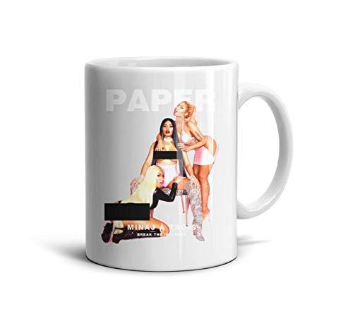 KmTGlory Nicki-Minaj-Paper-Magazine Printing TeaMugs Cup Novelty Ceramic Mug