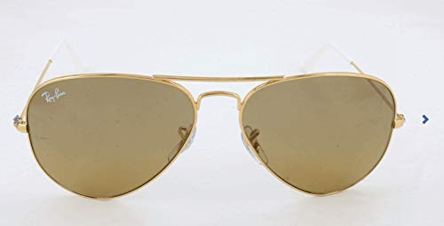 Ray-Ban RB3025 Aviator Sunglasses, Gold/Brown Mirror Gradient, 58 mm