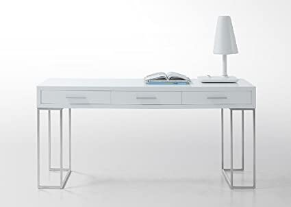 vgwcgasheldon modrest Sheldon - moderno escritorio blanco lacado ...