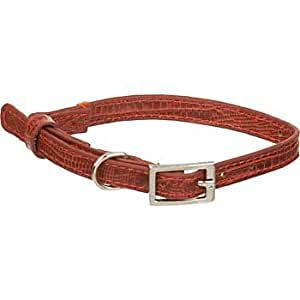 Dickens' Closet Create-a-Collar 10 mm Lizard Cat Charm Collar in Red, Small