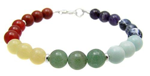 Bracelet Chakras Balancing Gemstone Jewelry