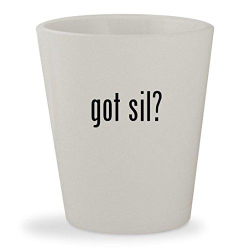 Got Sil    White Ceramic 1 5Oz Shot Glass