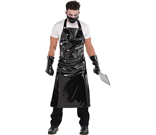AMSCAN Butcher Costume Halloween Accessory Kit for Men, 3 Pieces, Black