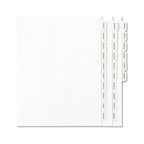 Avery Collated Legal Dividers Allstate Style, Letter