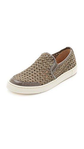 Woven Charcoal Frye Woven Fashion Gemma Slip Women's Suede Sneaker 4xqwtqY0r