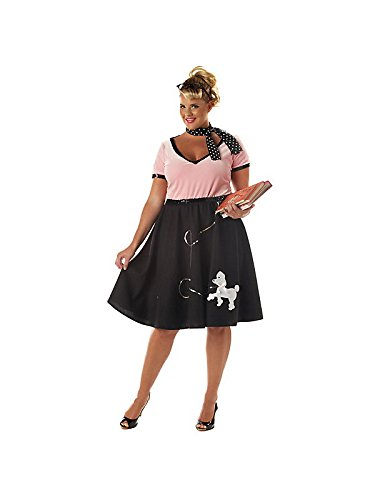 Scary Costumes 1950s - California Costumes Women's 50's Sweetheart, Pink/Black,