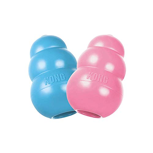 KONG Small Puppy Teething Toy - Colors May Vary (2 Pack)
