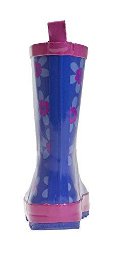 Lora Dora , Jungen Stiefel Blue/Pink Flower