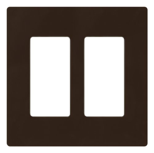 2 Gang Dimmer Switch - Lutron Claro 2 Gang Decorator Wallplate, CW-2-BR, Brown