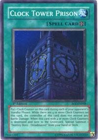 Yu-Gi-Oh! - Clock Tower Prison (EOJ-EN048) - Enemy of Justice - 1st Edition - Super Rare (Mint Clock Tower)