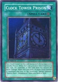 Yu-Gi-Oh! - Clock Tower Prison (EOJ-EN048) - Enemy of Justice - 1st Edition - Super Rare