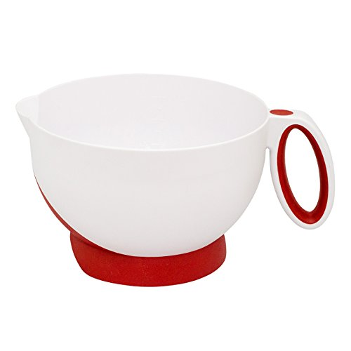 Cuisipro Deluxe Batter Bowl Mixing With Handle And Measurements, Red Cuisipro Bowls