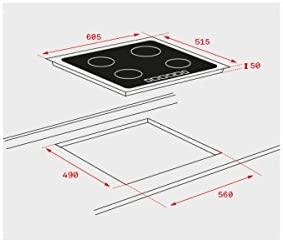 Teka IT 6320 Integrado Cerámico Negro - Placa (Integrado, Cerámico, Vidrio, Negro, 1800 W, 14,5 cm)