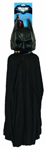 Batman The Dark Knight Rises Batman Cape and Mask Set, Black, One Size (Batman Black Knight Rises)