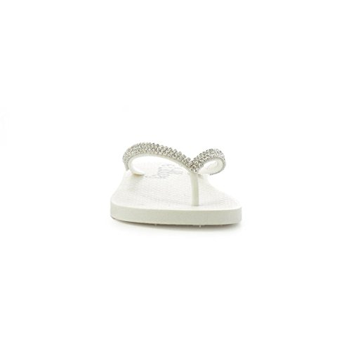 White White Womens Lilley Post Moulded Diamante Toe ZgRYwq