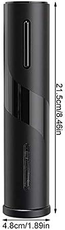 Vokmon Botella Reutilizable eléctrica de Vino USB LED abrelatas eléctrico Recargable Sacacorchos automático para la Cocina casera Barra del Partido