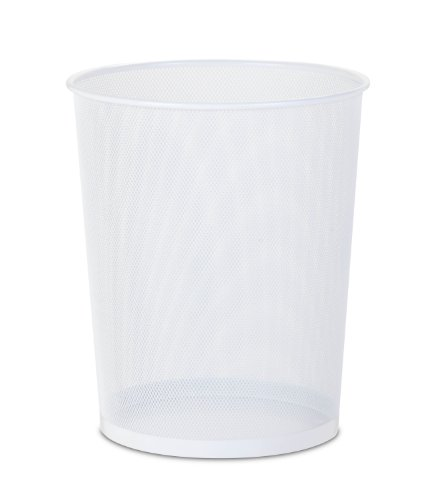 honeycando trs02120 steel mesh waste basket white capacity x 14inches tall