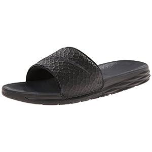 NIKE Men's Benassi Solarsoft Slide Sandal, Black/Anthracite, 12 D(M) US