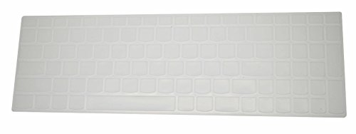 """PcProfessional Clear Ultra Thin Silicone Gel Keyboard Cover for Lenovo Ideapad Flex 3 Edge 2 Ideapad 300 15.6"""" Laptop with Application Kit (Please Compare Keyboard Layout and Model) -  4328700937"""