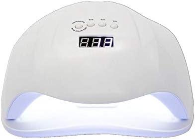 ネイルドライヤー 54Wネイルオイルジェル速乾性ネイルランプLEDセンサーネイル光線療法ランプネイルランプドライヤー 手足兼用 (Color : White, Size : UK)