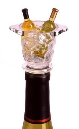 (Napa Wine Bucket Acrylic Mini Bottle Stopper)