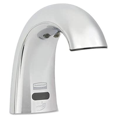 Rubbermaid Commercial FG750339 One Shot Polished Chrome Counter Mounted Low Profile Foam Dispenser by Rubbermaid Commercial Products