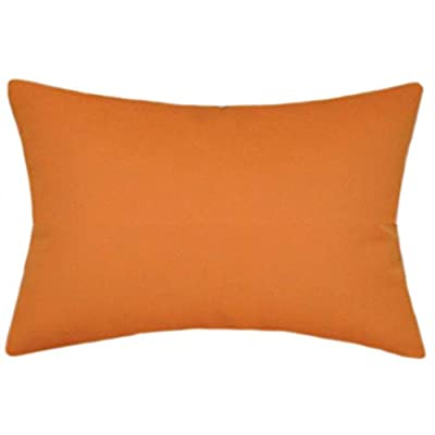 TPO Design Sunbrella Tuscan Indoor/Outdoor Solid Patio Pillow 12x18 Rectangle: Home & Kitchen