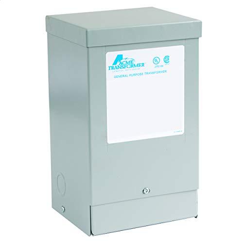 Acme Electric T253012S Transformer, 2KVA, 1P, 240/480V, 120/240V, Isolation